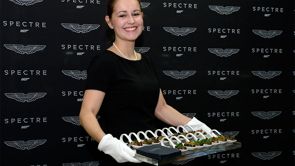 Fingerfood Empfang Aston Martin 007 James Bond
